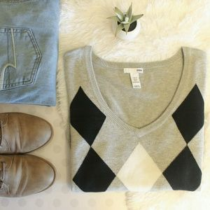 ARGYLE LIGHTWEIGHT SWEATER • H&M
